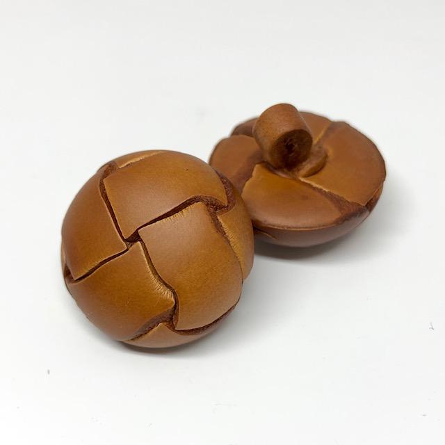 バスケット型 革ボタン サブ画像