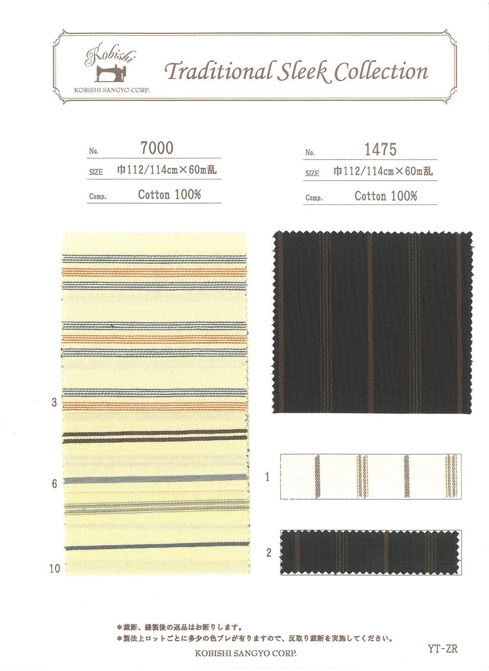 1475 横縞スレーキ[スレキ] 小菱産業/オークラ商事 - ApparelX アパレル資材卸通販