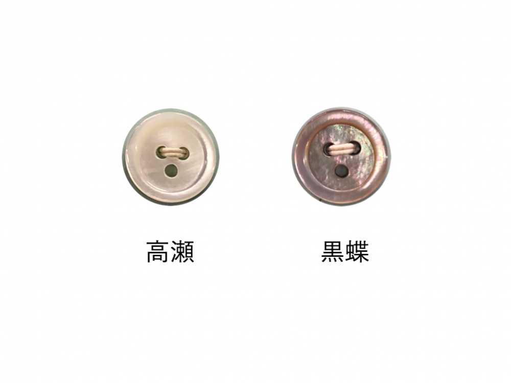 1703 17型3穴貝ボタン オークラ商事 - ApparelX アパレル資材卸通販
