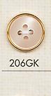 206GK シンプル 4つ穴 プラスチックボタン 大阪プラスチック工業(DAIYA BUTTON)/オークラ商事 - ApparelX アパレル資材卸通販