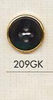 209GK シンプル シャツ用 4つ穴 プラスチックボタン 大阪プラスチック工業(DAIYA BUTTON)/オークラ商事 - ApparelX アパレル資材卸通販