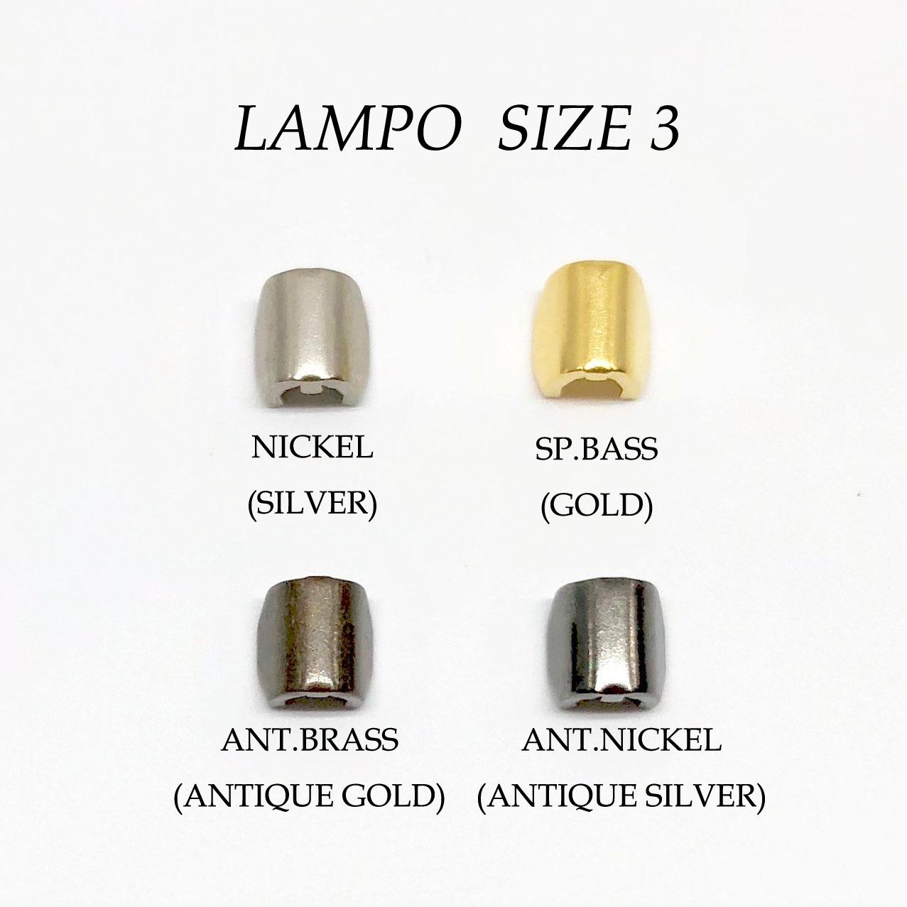 283S スーパーランポファスナー 上止 サイズ3専用 LAMPO(GIOVANNI LANFRANCHI SPA)/オークラ商事 - ApparelX アパレル資材卸通販