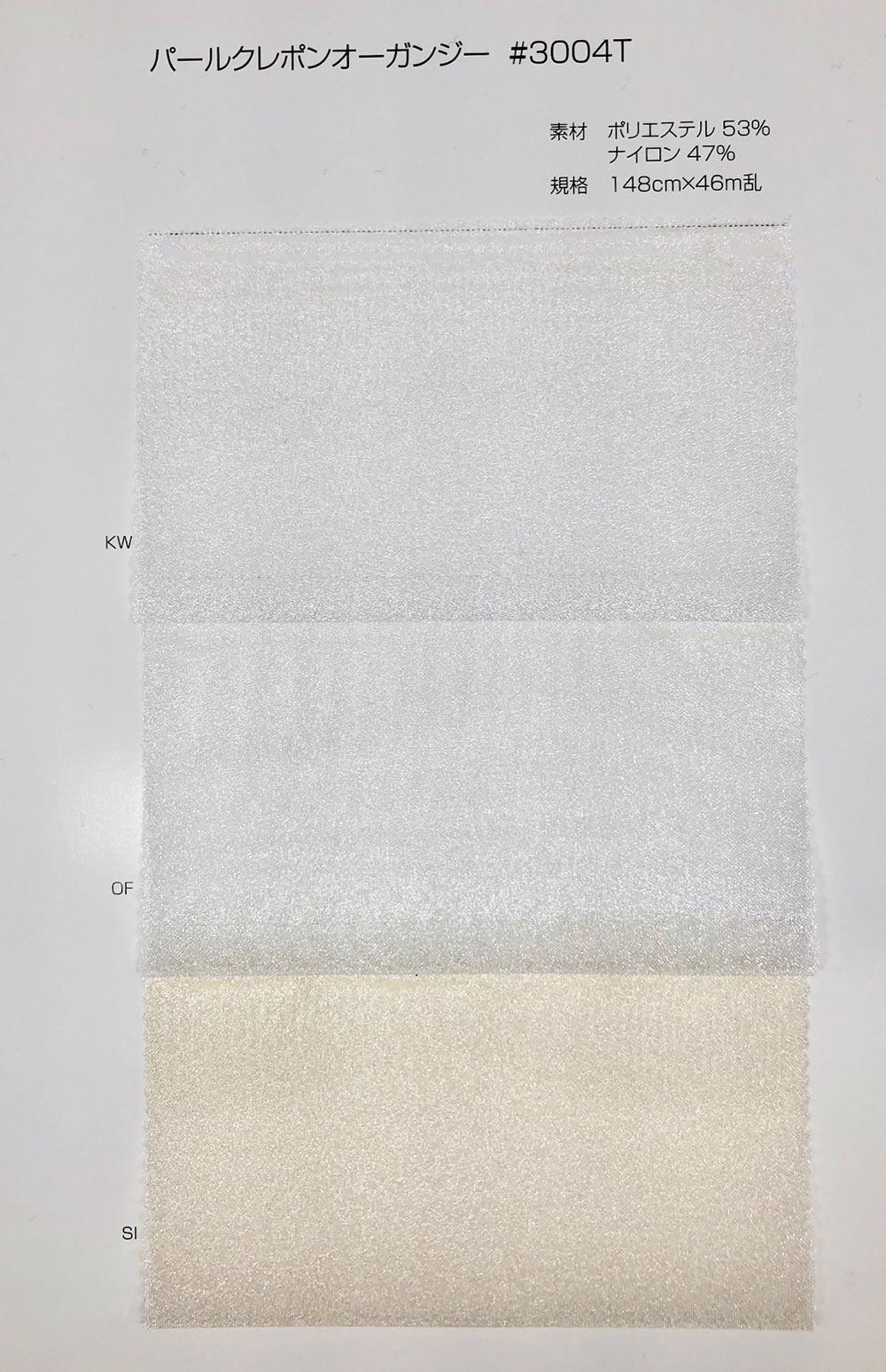 3004T パールクレポンオーガンジー[生地] サンコロナ小田/オークラ商事 - ApparelX アパレル資材卸通販