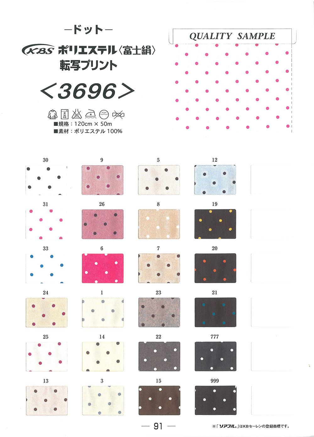 3696 ポリエステル 富士絹 ドット裏地 KBセーレン/オークラ商事 - ApparelX アパレル資材卸通販