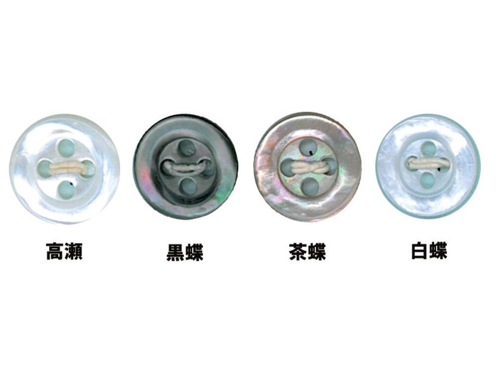5 5型4穴貝ボタン オークラ商事 - ApparelX アパレル資材卸通販