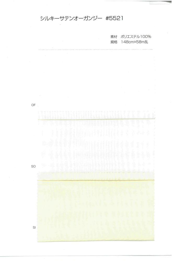 5521 シルクサテンオーガーンジー[生地] サンコロナ小田/オークラ商事 - ApparelX アパレル資材卸通販
