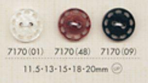 7170 2穴ステッチ刻印ボタン 大阪プラスチック工業(DAIYA BUTTON)/オークラ商事 - ApparelX アパレル資材卸通販