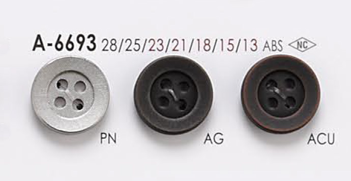 A6693 4つ穴 メタルボタン アイリス/オークラ商事 - ApparelX アパレル資材卸通販