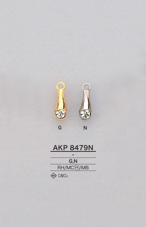 AKP8479N ラインストーン ファスナーポイント(引き手) アイリス/オークラ商事 - ApparelX アパレル資材卸通販
