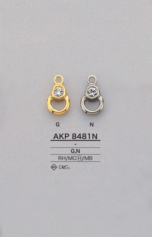 AKP8481N ラインストーン ファスナーポイント(引き手) アイリス/オークラ商事 - ApparelX アパレル資材卸通販