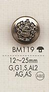 BM119 高級感 ジャケット用 メタルボタン 大阪プラスチック工業(DAIYA BUTTON)/オークラ商事 - ApparelX アパレル資材卸通販