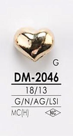 DM2046 ハート型 メタルボタン アイリス/オークラ商事 - ApparelX アパレル資材卸通販