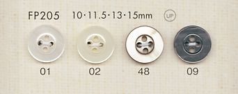 FP205 DAIYA BUTTONS 貝調ポリエステルボタン 大阪プラスチック工業(DAIYA BUTTON)/オークラ商事 - ApparelX アパレル資材卸通販