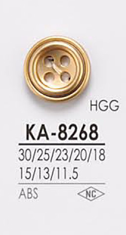 KA8268 4つ穴 メタルボタン アイリス/オークラ商事 - ApparelX アパレル資材卸通販