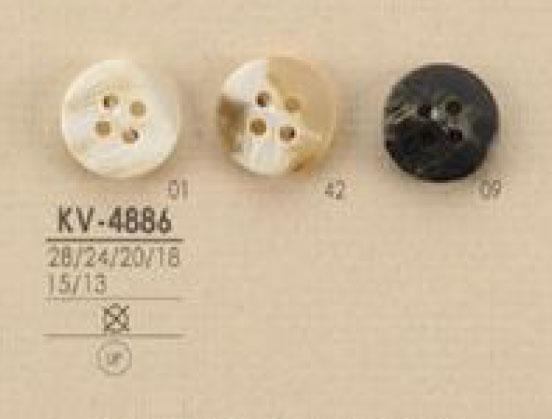 KV4886 水牛調 4つ穴 ポリエステル ボタン アイリス/オークラ商事 - ApparelX アパレル資材卸通販