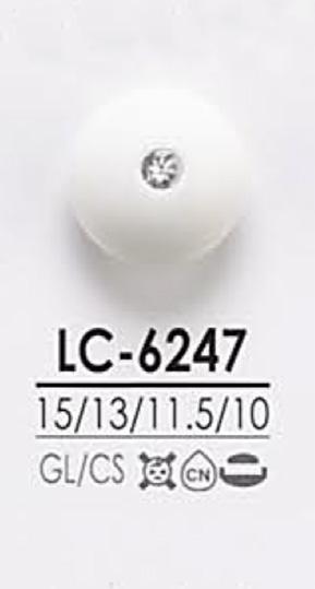 LC6247 染色用 ピンカール調 クリスタルストーン ボタン アイリス/オークラ商事 - ApparelX アパレル資材卸通販