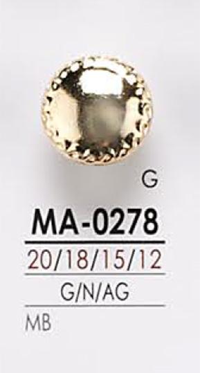 MA0278 メタルボタン アイリス/オークラ商事 - ApparelX アパレル資材卸通販
