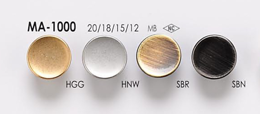 MA1000 メタルボタン アイリス/オークラ商事 - ApparelX アパレル資材卸通販