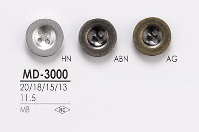 MD3000 ジャケット・スーツ用 4つ穴 メタルボタン アイリス/オークラ商事 - ApparelX アパレル資材卸通販