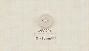 MFG234 DAIYA BUTTONS 四つ穴マットクリアボタン 大阪プラスチック工業(DAIYA BUTTON)/オークラ商事 - ApparelX アパレル資材卸通販