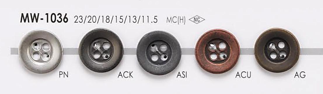 MW1036 ジャケット・スーツ用 4つ穴 メタルボタン アイリス/オークラ商事 - ApparelX アパレル資材卸通販