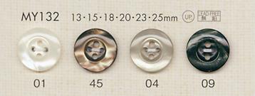 MY132 DAIYA BUTTONS 貝調ポリエステルボタン 大阪プラスチック工業(DAIYA BUTTON)/オークラ商事 - ApparelX アパレル資材卸通販