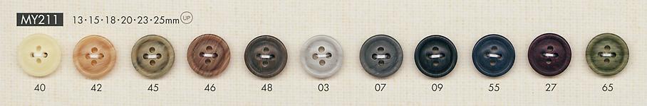 MY211 上品 ポリエステル 4つ穴 ボタン 大阪プラスチック工業(DAIYA BUTTON)/オークラ商事 - ApparelX アパレル資材卸通販
