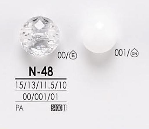 N48 透明&染色用 ダイヤカット ボタン アイリス/オークラ商事 - ApparelX アパレル資材卸通販
