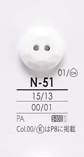 N51 透明&染色用ボタン アイリス/オークラ商事 - ApparelX アパレル資材卸通販
