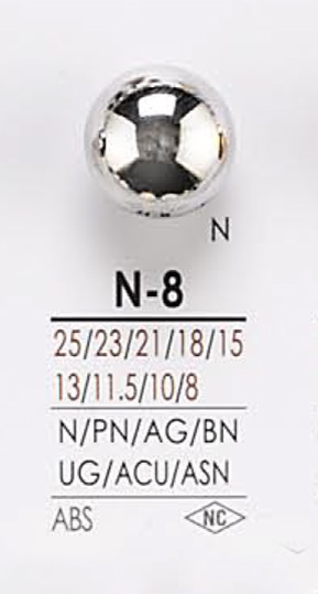 N8 メタルボタン アイリス/オークラ商事 - ApparelX アパレル資材卸通販