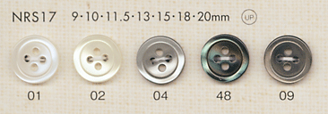 NRS17 DAIYA BUTTONS 貝調ポリエステルボタン 大阪プラスチック工業(DAIYA BUTTON)/オークラ商事 - ApparelX アパレル資材卸通販