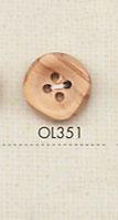 OL351 天然素材 ウッド 4つ穴 ボタン 大阪プラスチック工業(DAIYA BUTTON)/オークラ商事 - ApparelX アパレル資材卸通販