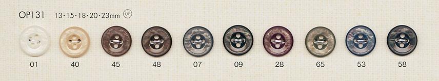 OP131 上品 華やか 4つ穴 ポリエステルボタン 大阪プラスチック工業(DAIYA BUTTON)/オークラ商事 - ApparelX アパレル資材卸通販