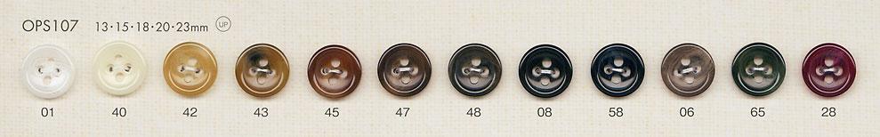 OPS107 上品 高級感 水牛調 4つ穴 ポリエステル ボタン 大阪プラスチック工業(DAIYA BUTTON)/オークラ商事 - ApparelX アパレル資材卸通販