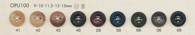 OPU100 上品 4つ穴 ポリエステルボタン 大阪プラスチック工業(DAIYA BUTTON)/オークラ商事 - ApparelX アパレル資材卸通販