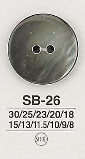 SB26 貝ボタン アイリス/オークラ商事 - ApparelX アパレル資材卸通販