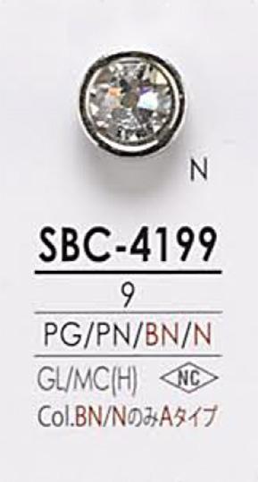 SBC4199 クリスタルストーン ボタン アイリス/オークラ商事 - ApparelX アパレル資材卸通販