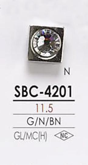 SBC4201 クリスタルストーン ボタン アイリス/オークラ商事 - ApparelX アパレル資材卸通販