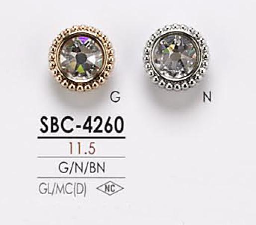 SBC4260 クリスタルストーン ボタン アイリス/オークラ商事 - ApparelX アパレル資材卸通販