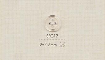 SFG17 DAIYA BUTTONS 四つ穴クリアボタン 大阪プラスチック工業(DAIYA BUTTON)/オークラ商事 - ApparelX アパレル資材卸通販