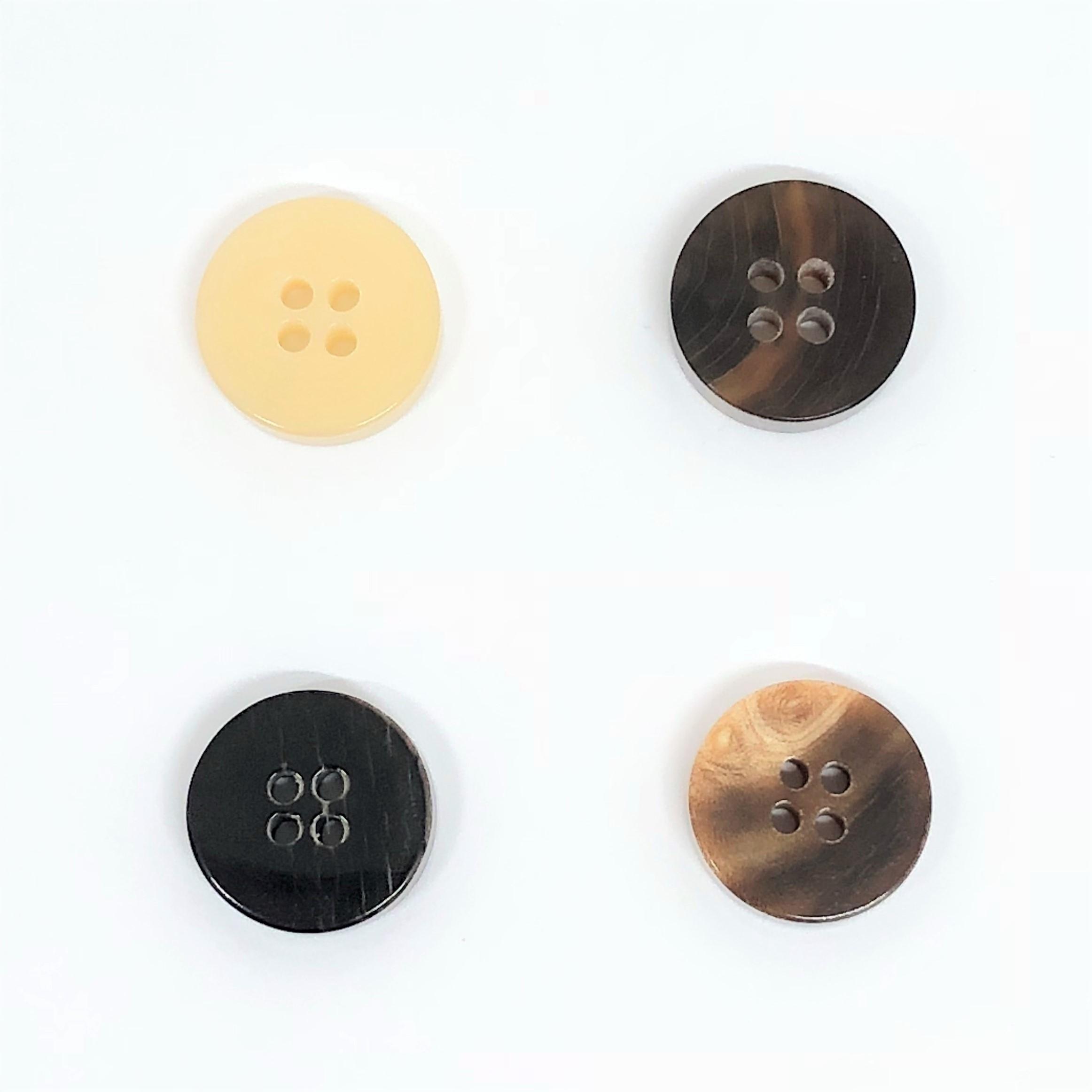 TGH1007 オリジナル水牛四つ穴ボタン オークラ商事 - ApparelX アパレル資材卸通販
