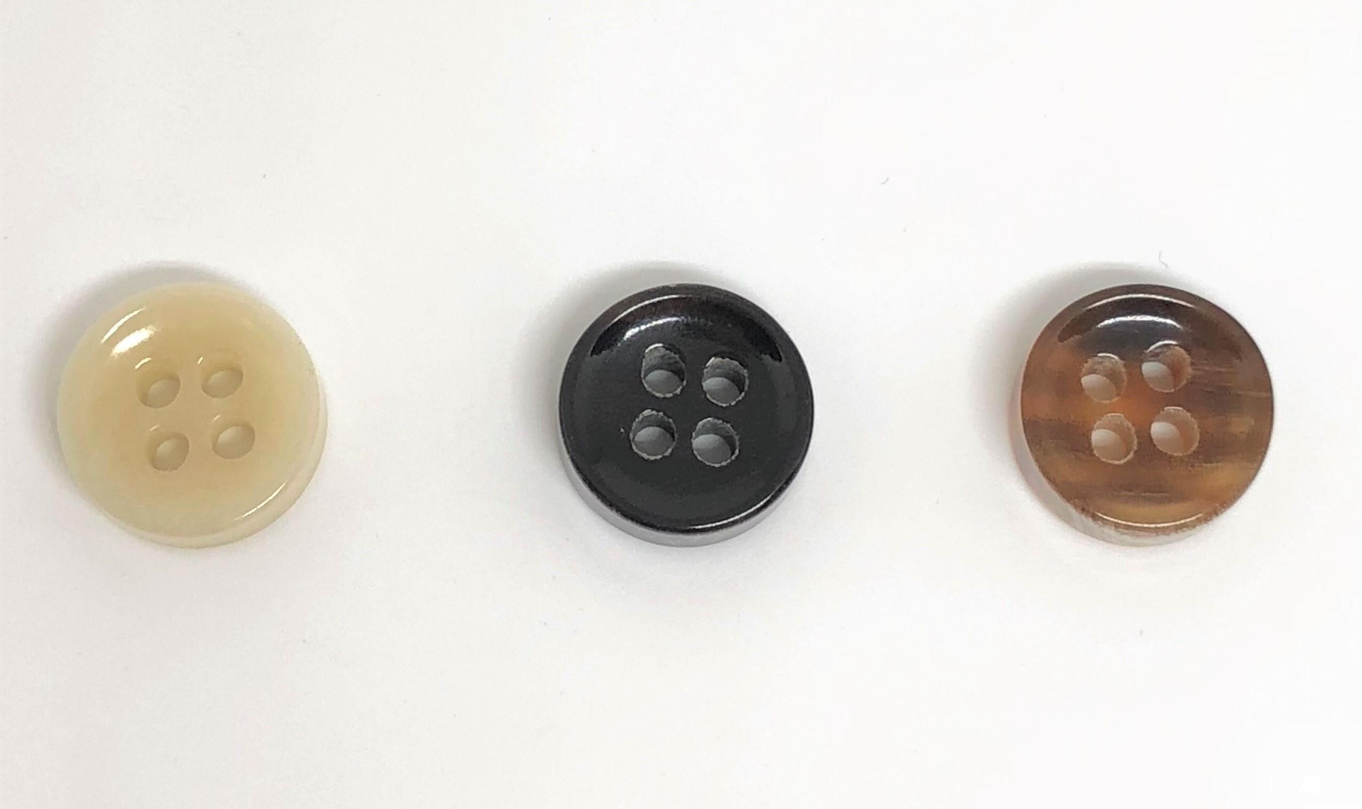 TGH1009 オリジナル水牛フチありボタン オークラ商事 - ApparelX アパレル資材卸通販