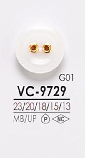 VC9729 染色用 2つ穴 ハトメ ボタン アイリス/オークラ商事 - ApparelX アパレル資材卸通販