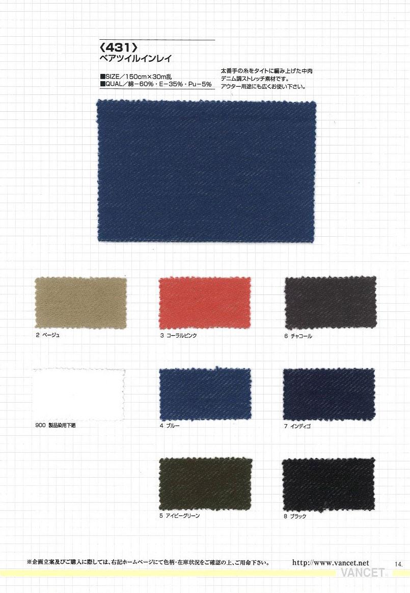 431 ベアツイルインレイ[生地] VANCET/オークラ商事 - ApparelX アパレル資材卸通販