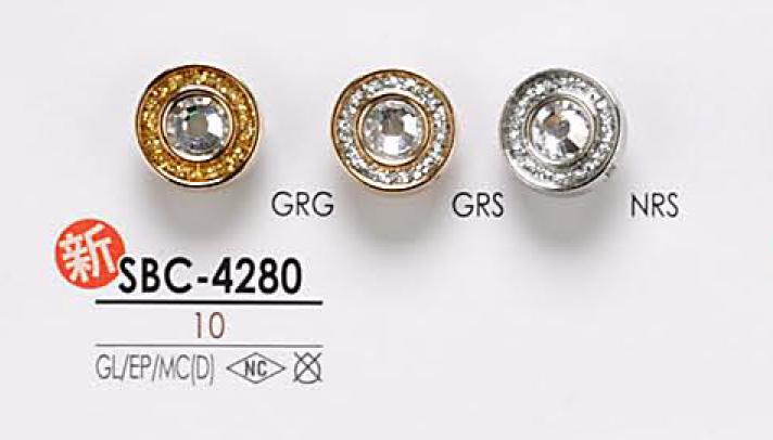 SBC4280 クリスタルストーン ボタン アイリス/オークラ商事 - ApparelX アパレル資材卸通販