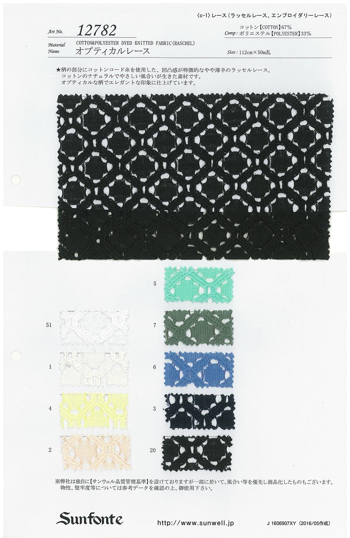 12782 オプティカルレース SUNWELL(サンウェル)/オークラ商事 - ApparelX アパレル資材卸通販