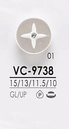 VC9738 染色用 ピンカール調 クリスタルストーン ボタン アイリス/オークラ商事 - ApparelX アパレル資材卸通販
