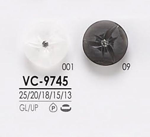 VC9745 染色用 ピンカール調 クリスタルストーン ボタン アイリス/オークラ商事 - ApparelX アパレル資材卸通販