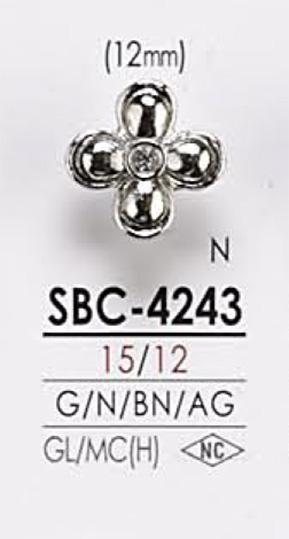 SBC4243 花モチーフ メタルボタン アイリス/オークラ商事 - ApparelX アパレル資材卸通販