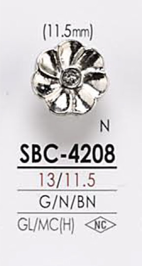 SBC4208 花モチーフ メタルボタン アイリス/オークラ商事 - ApparelX アパレル資材卸通販